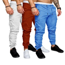 HEFLASHOR Men Pants Hip Hop Fashion Joggers Pants 2019 New M