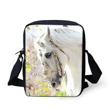 HaoYun Womens Messenger Bags Beautiful Horses Prints Pattern Girls Cross Body Cartoon Animal Fashion Mini Flaps Purse Bag