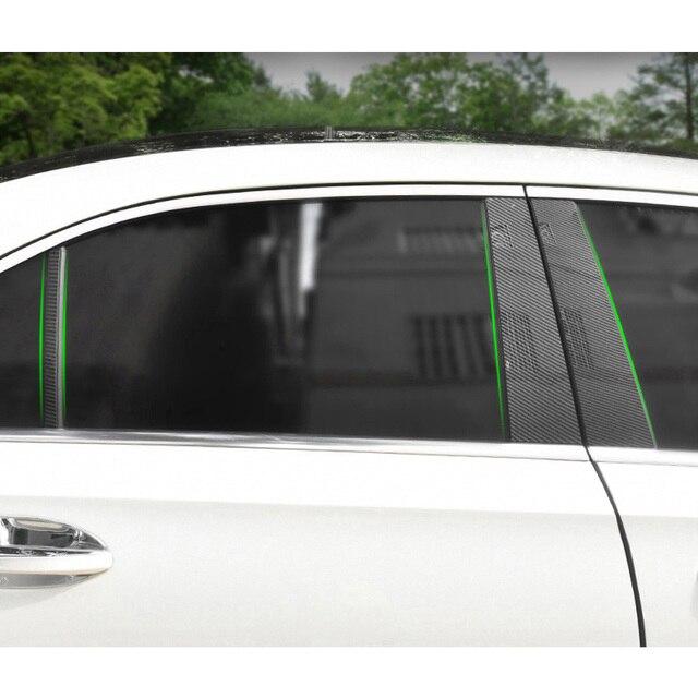 6 uds para Mercedes Benz Clase A W177 A180 A200 A220 A250 2019 + Accesorios de coche ventana B C columna media Pilar tira embellecedora pegatina
