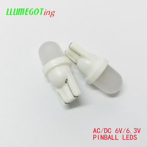 Image 2 - 100pcs 194 T10 #555 Wedge Base With Frosted Len Various Colour Available Non polarity AC DC 6V 6.3V Pinball Game Machine Leds