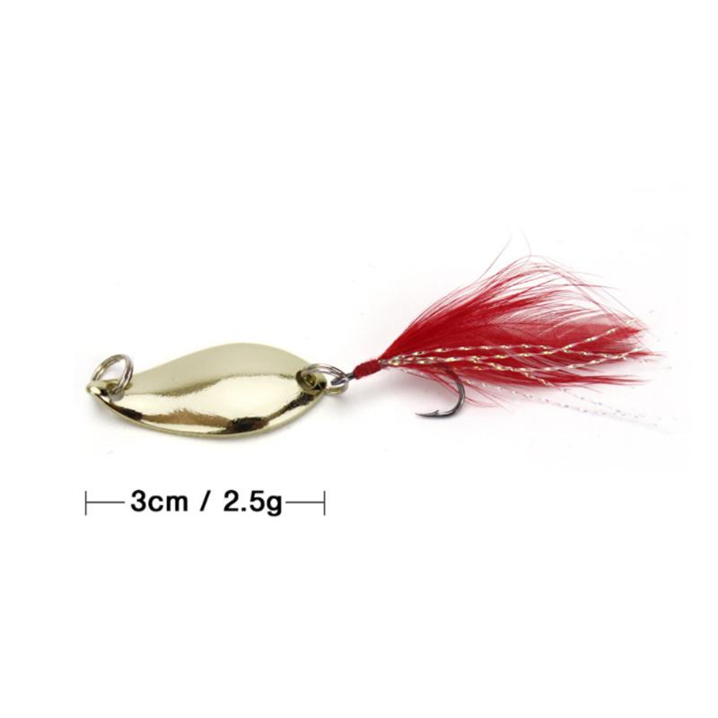 Juego de cebos artificiales de cucharilla de pesca de 12 Uds., cucharas de cebo metálico