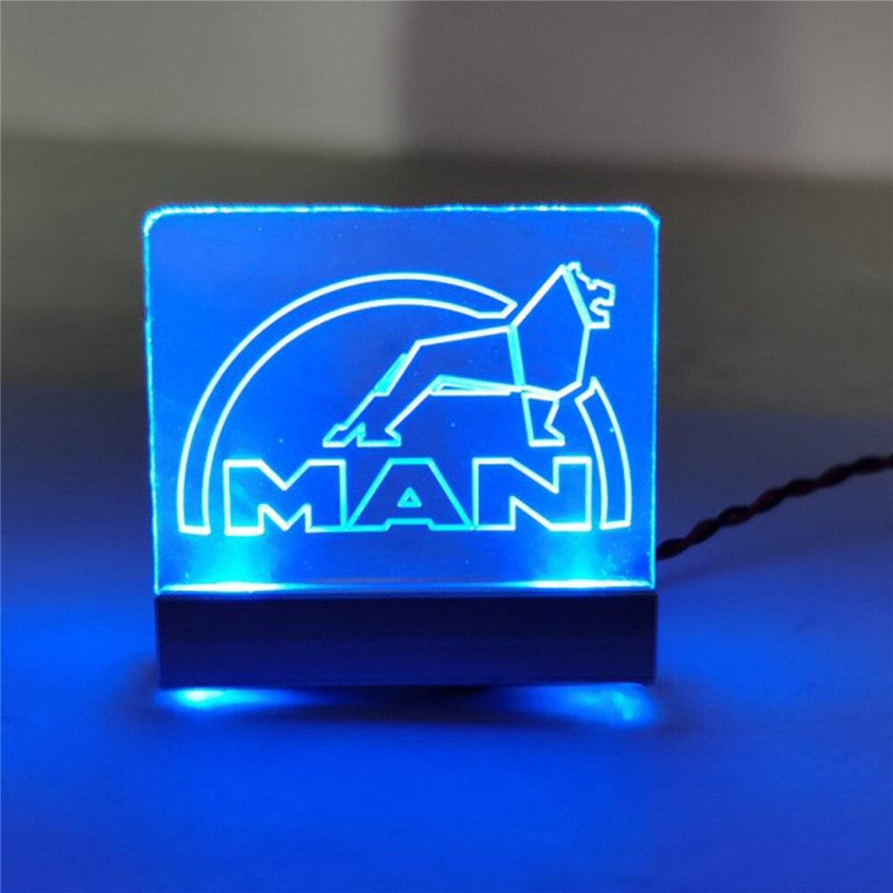Marcador de Luz de acrílico com o LOGOTIPO do Homem para Homem 540 56325 TGX TAMIYA 1/14 RC Car Atualize Parte Acessórios