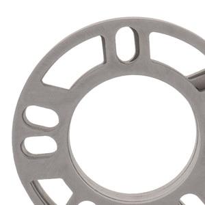 Image 5 - 4 Pcs 5mm Car Wheel Spacer Shims Plate 4 5 STUD Universal For Auto 4x100 4x114.3 5x100 5x108 5x114.3 5x120 Etc Car Accessories