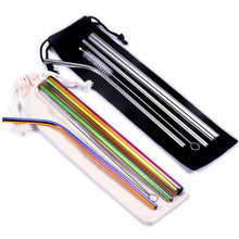 304 Stainless Steel Drinking Straws Reusable Straw Set Drinking Straw Metal Drinking Straws Reusable Straws Metal Straw Set