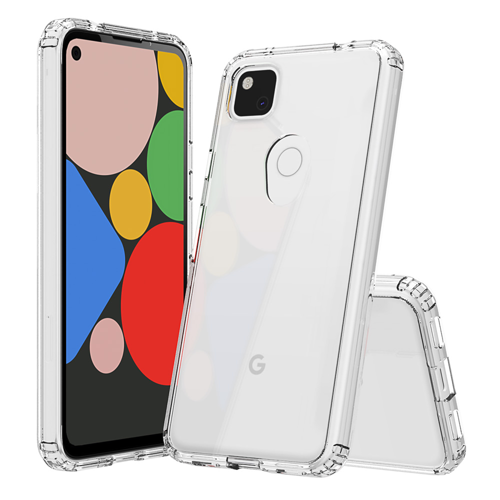 For Google Pixel 4 XL Case 4A 3 Pixel 3A XL Shock-Resistant Crystal Transparent Hard Back Slim Cover Thin Phone Clear Bag