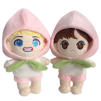 Korea Kawaii Plush Dolls Toy Cartoon Stuffed Doll With Clothes PP Cotton Cute Soft Dolls Collection Fans Gift Toys For Kid Gifts
