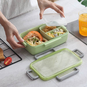 Lattice Bento-Box Microwave Food-Container SHAI Leak-Proof Portable Kids for Independent