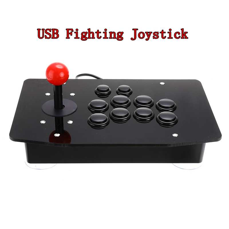 Arcade Joystick USB Pertempuran Tongkat Gaming Controller Gamepad Video Game untuk PC Desktop
