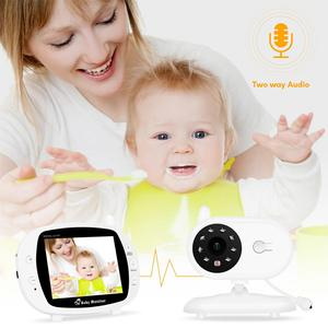 Image 3 - Babyphone Baby Camera Wireless 3.5Inch LCD Screen Audio Video Baby Monitor Radio Nanny Music Intercom Babyphone Camera US Plug