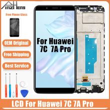 PINZHENG AAAA Original Screen For Huawei Honor 7C 7A Pro LCD Display Touch Screen Digitizer Replace LCDS AUM-l29 AUM-L41 Screen jonsnow for huawei honor 7c 5 7 aum l41 tempered glass lcd screen protector for honor 10 9 8 7a 7c pro aum l29 protective film