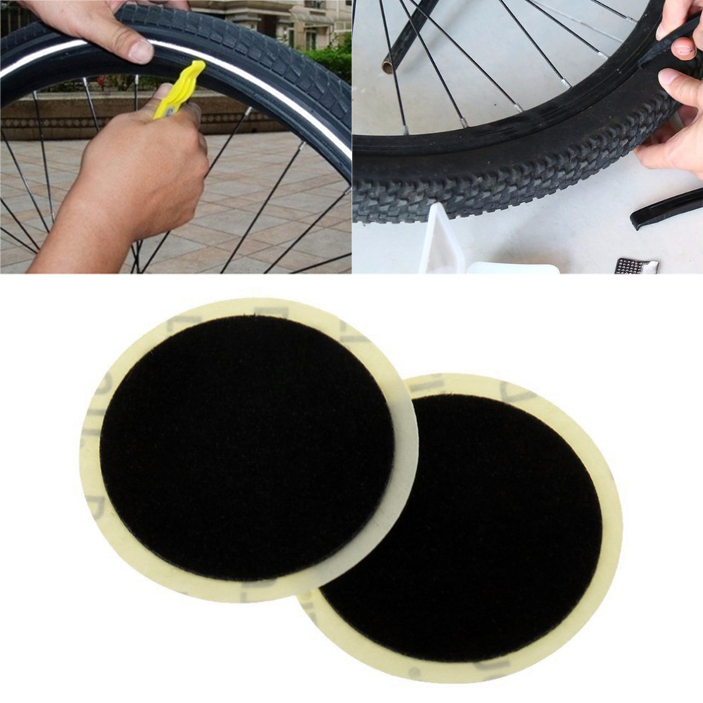 10Pcs Bike Glue-free Patch Tyre Puncture Fast Repair Tools Black Bicycle Inner Tire Patches Repair Tools