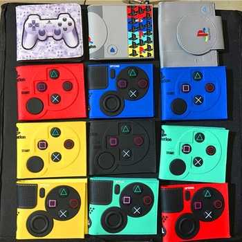 10 pcs/lot Playstation 4 Wallet Game Playstation Control Shape Model PU Coin Purses Model Toy