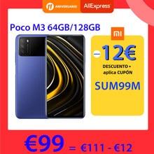 POCO M3 – Smartphone, Version globale, 4 go 64 go/128 go, Snapdragon 662 Octa Core, écran 6.53 pouces, affichage DotDrop, Triple caméra 48mp, 6000mAh