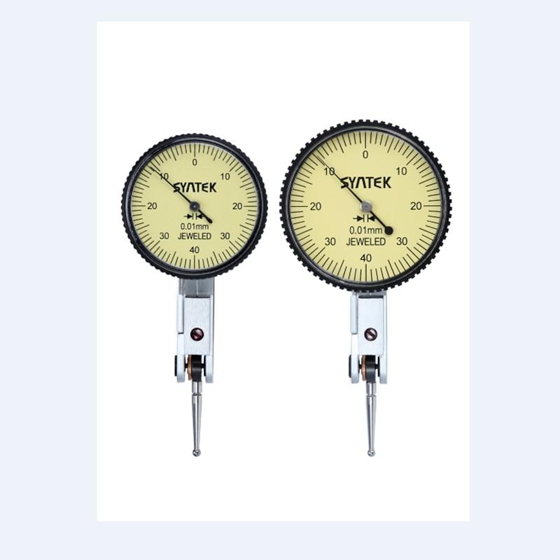Portable 0.01mm Lever Indicator Shockproof Dial Test 0-0.8mm Dial Gauge Analog Display Level Indicator Micrometer Measure Tools