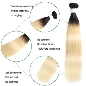 Image 5 - 1b/613 # Ombre Blonde Haar Bundles KEMY HAAR 8 26 Inch Brasilianische Gerade Menschenhaar Spinnt Bündel nicht Remy Haar Extensions 1PCS