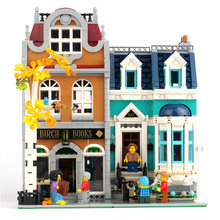 2524 pçs criador cidade street view bookshop modelo conjunto kits de construção blocos com figuras compatível 10270 tijolos brinquedos crianças presente