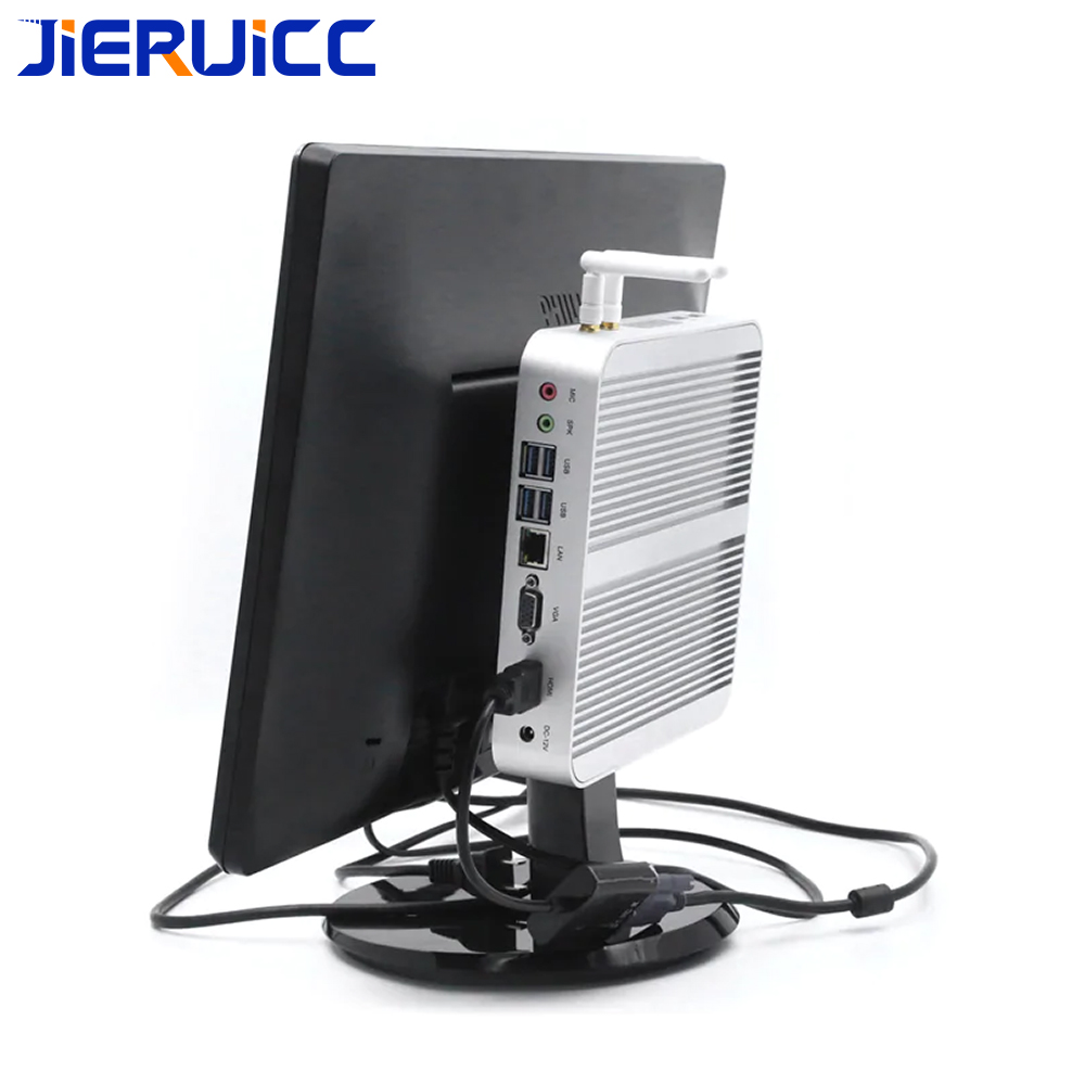 Dual Core Fanless Windows 10 64bit Mini Pc With 4*usb3.0,hdmi+vga Dual Display,intel HD Graphic,4K Support 3D Games For HTPC