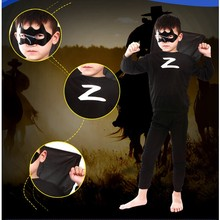 Halloween Superhero Zorro Costume Spiderman Batman Superman Costumes Set Clothing Kids Birthday Party
