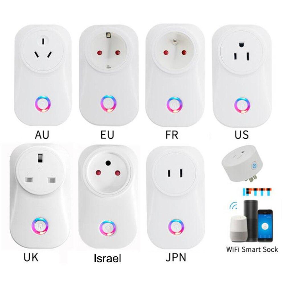 2020 Tuya Cloud 10A 16A Israel WiFi Smart Socket Wireless Plug Work With Alexa Google Assistant IFTTT Smart Life APP