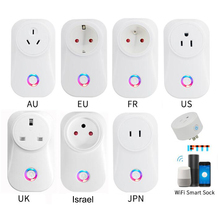 Enchufe inteligente inalámbrico con WiFi, enchufe H96 2020, Tuya Cloud 10A, Israel, funciona con asistente de Google, Alexa, IFTTT