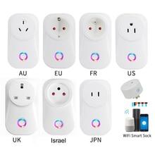 H96 2020 Tuya Cloud 10A Israel WiFi Smart Socket Wireless Plug Work With Alexa Google Assistant IFTTT Smart Life APP