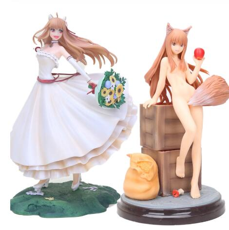 20-25cm Spice and Wolf Holo series <font><b>Sexy</b></font> Girls Japanese <font><b>Anime</b></font> action <font><b>Figure</b></font> PVC Adult Toys <font><b>Figure</b></font> Collection Model Kids Toy <font><b>Doll</b></font> image