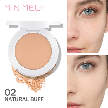 MINIMELI Face Compact Powder Oil Control Matte Makeup Setting Pressed Powder Pores Invisible Mate Natural Finish Cosmetics o two o 8 colors face pressed powder makeup pores cover hide blemish oil control lasting base concealer powder cosmetics 9114