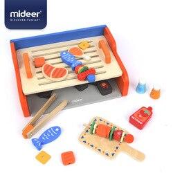 Mideer Baby Pretend Play Speelgoed Simulatie Grill Houten Dubbele Laag Veiligheid Onderwijs 3Y + Barbecue Jongen & Meisje Keuken Geschenken