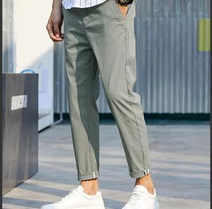 Image 3 - 2019 primavera e verão nova versão coreana do estilo chinês harlan casual esportes cor sólida namoro calças de alta qualidade