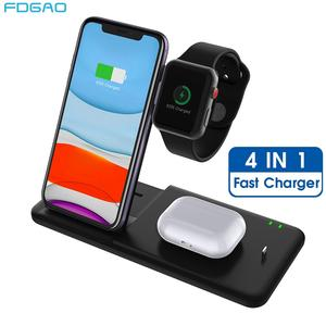 15W 4 in 1 Charging Station for Apple Watch Fast Qi Wireless Charger Stand Dock for iWatch 5 4 3 AirPods Pro iPhone 11 XS XR X 8