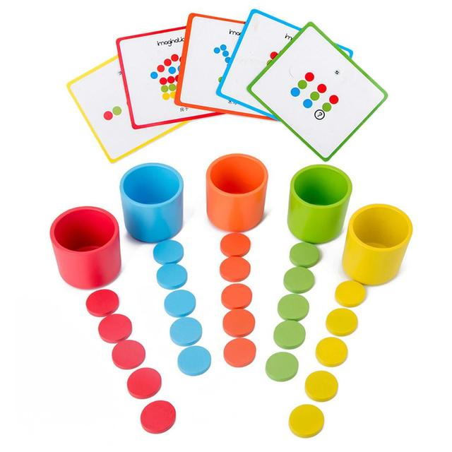 Wooden Color, Sorting, Stacking Kit