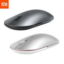 Original Xiaomi Fashion Mouse Portable Wireless Game Mouse 1000dpi 2.4GHz Bluetooth link Optical Mouse Mini Portable Metal Mouse