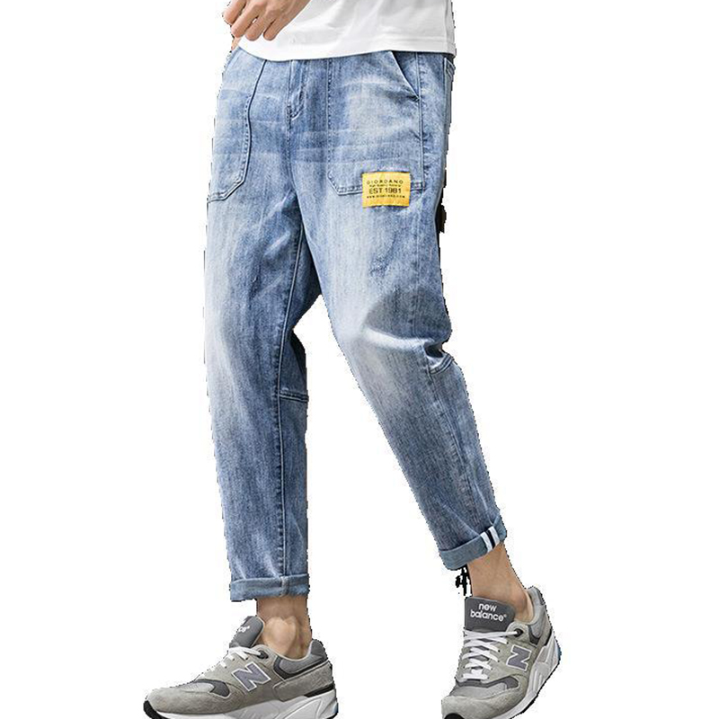 2020 New Harlan Jeans Men Loose Tide Brand Feet Pants Men Stretch Feet Nine Points Pants Trend Street Men Trousers