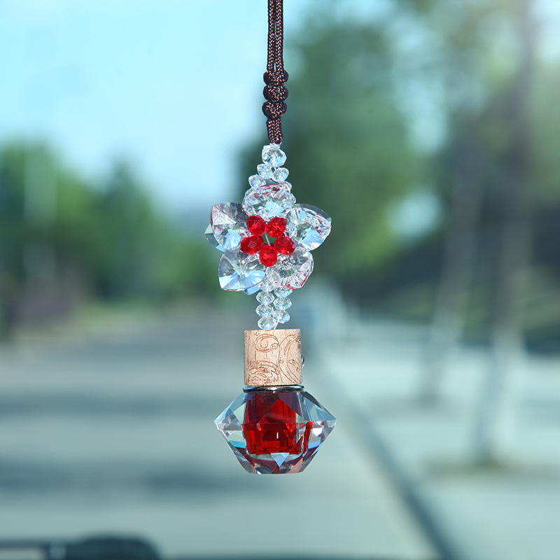 Korean style Fashion Gold Foil Color Five pointed Star Car Hanging Creative Perfume Automobile Hanging Ornament Gift Crystal Car|Ornaments| |  - title=