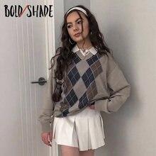 Женский трикотажный пуловер в консервативном стиле свитер с