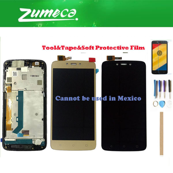 Without/With Frame For Motorola C Plus XT1721 XT1722 <font><b>XT1723</b></font> XT1724 XT1725 Moto C Plus LCD Display+Touch Screen Digitizer + Kits image