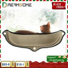 Hamaca para gatos soporte de cama para ventana, tumbona, ventosas, cama cálida para pequeño gran descanso de gatos y mascotas, cama de pared para sol, jaula de hurón suave