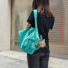 Pet Cat дышащая уличная дорожная сумка через плечо перевязь Перевозчик для щенка, кошек, руки бесплатно плечо сумчатые худи с животными Tote