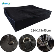 224x175x45cm Universal Cam per Trailer Cover Black Waterproof Travel Camping Cover Rooftop Travel  Black Rooftop Travel Cover