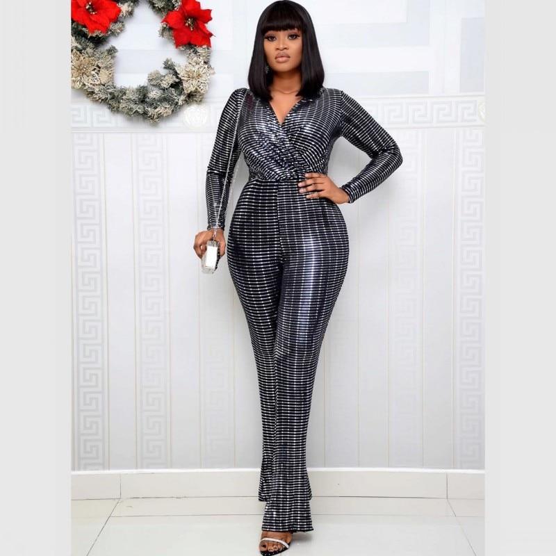 Dashiki Jumpsuit African Clothing For Women 2020 Design Bazin For Lady Elegant Stylish Jumpsuit Female Overalls Africa Clothing