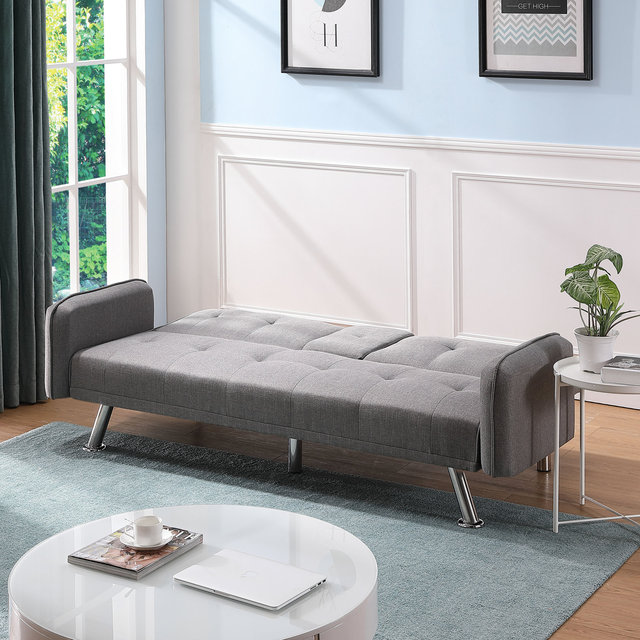 Light Grey Sofa Bed Couch  3