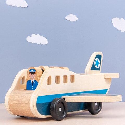 educativos para criancas modelo aeronaves transporte madeira