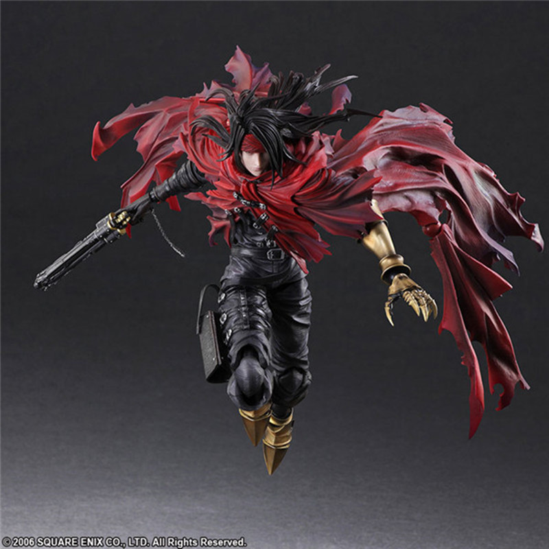 Dirge of Cerberus <font><b>Final</b></font> <font><b>Fantasy</b></font> VII Play Arts Kai Vincent Valentine Figure Action PVC <font><b>Final</b></font> <font><b>Fantasy</b></font> <font><b>7</b></font> Collectible Model Toy image