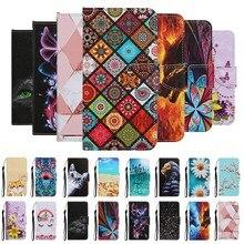 PSmart 2020 skórzane Etui na Etui Huawei P Smart 2021 Y7A przypadku marmuru kot kwiat CYTANH odwróć portfel telefon pokrywa zderzak kobiety