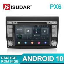 Isudar PX6 2 Din Android 10 Auto Multimedia player Für Fiat/Bravo 2007 2008 2009 2010 2011 2012 DVD auto GPS Radio 4 GB RAM DSP