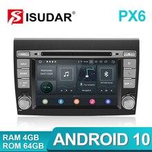Isudar PX6 2 Din Android 10 için araba multimedya oynatıcı Fiat/Bravo 2007 2008 2009 2010 2011 2012 DVD otomatik GPS radyo 4 GB RAM DSP