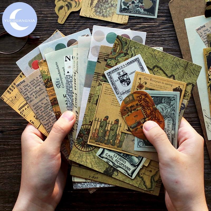 YueGuangXia Italy Renaissance Tale Myth Journaling Bullet DIY Scrapbooking Material Deco Stickers Retro Hangtag Flakes 40pcs/lot
