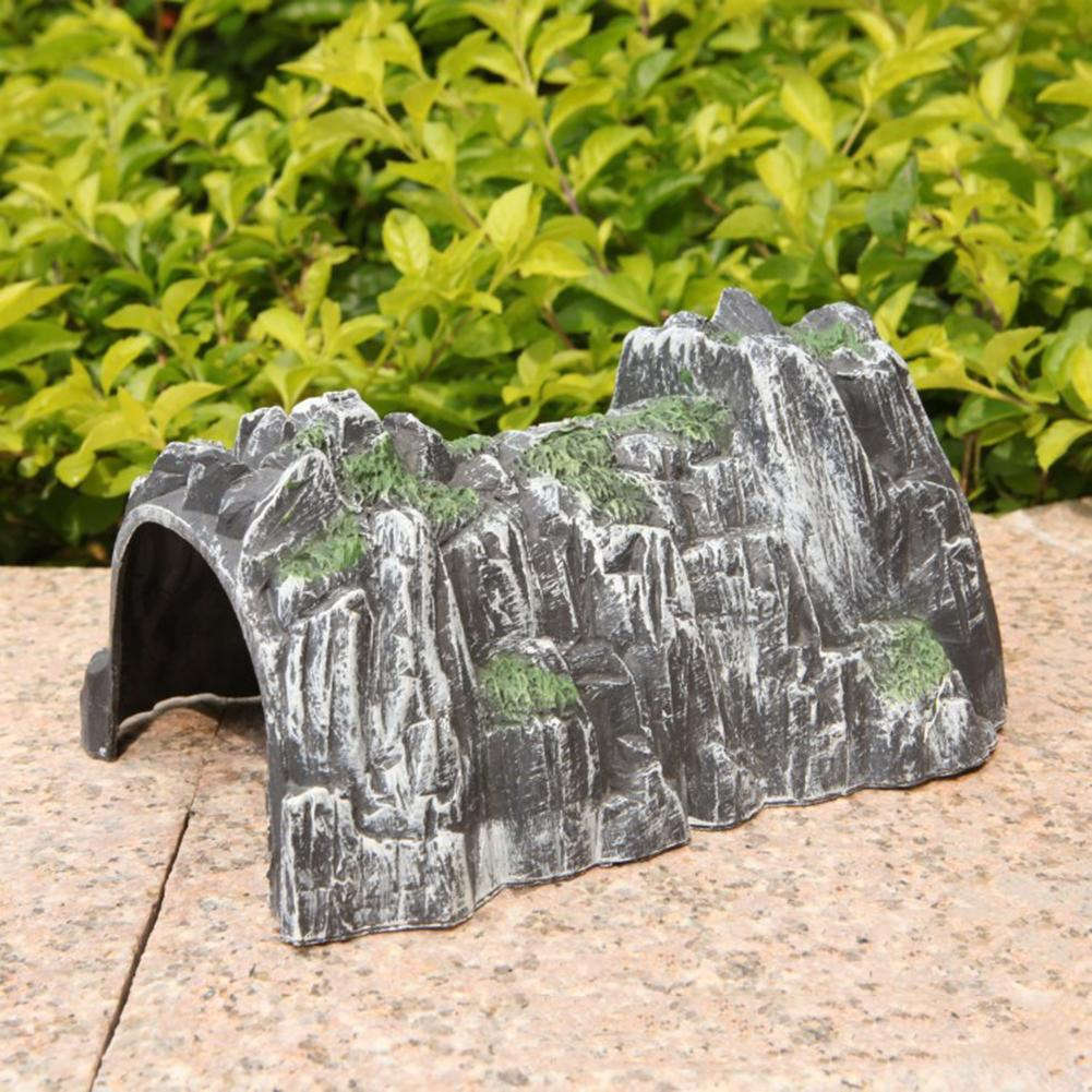 18cm Simulation Rockery Train Cave Plastic Track Train Rockery Railway Tunnel Simulated Cave Scene Model Toy High Quality