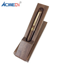 ACMECN Walnut Wood Pen Box Office Desk Decoration Writing Stationery Eco-friendly Natural Craft Ball Set Gifts