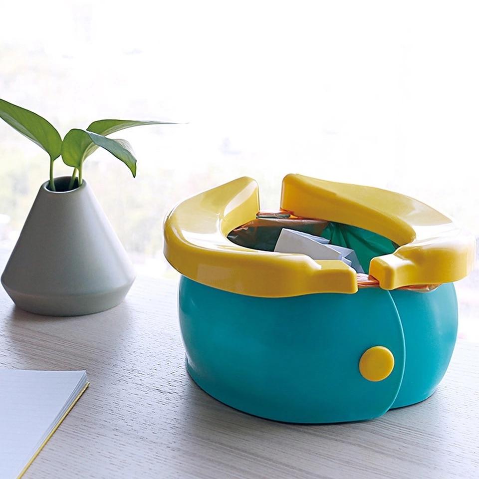 New Hot Convenient Folding Children's Toilet Potty Urinal Cartoon Banana Cartoon Model Toilet Bagged Good For Travel